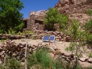 Prototype solar pump in Hussein's garden